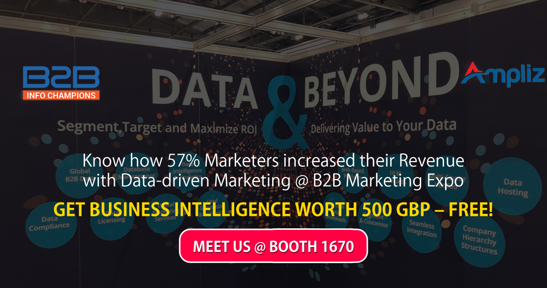 Know how 57% Marketers increased their Revenue with Data-driven Marketing @ B2B Marketing Expo London